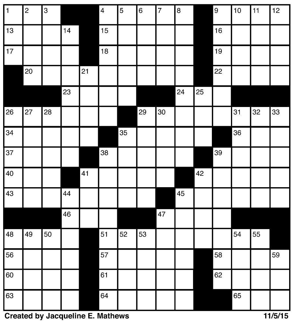 Crossword November 5