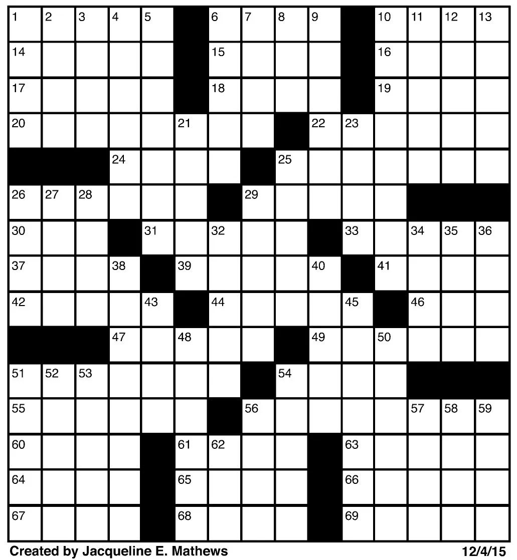 Crossword December 4