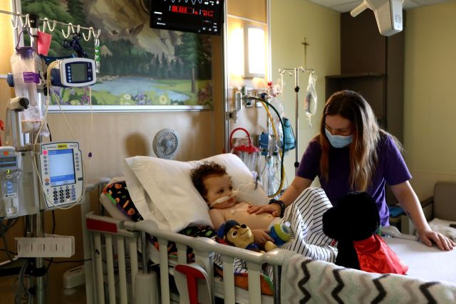 Two-year-old recovering from COVID