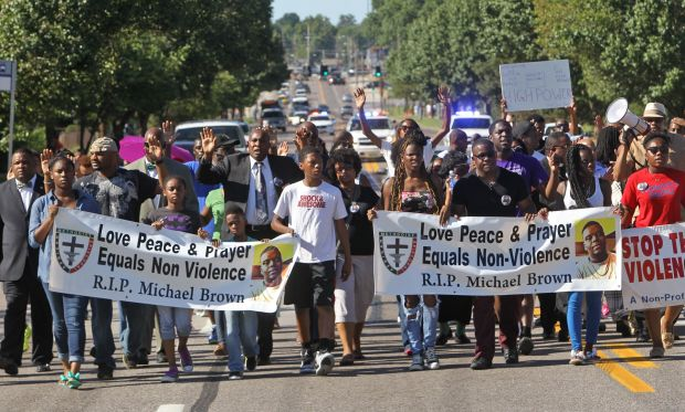 Ministers try Peaceful Protests in Ferguson