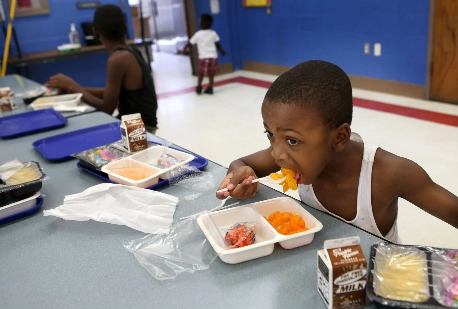 Summer school lunch program