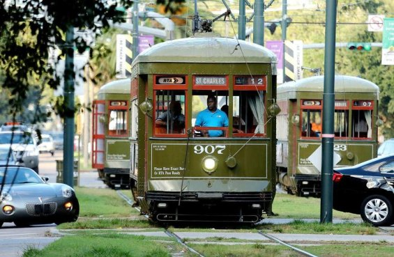 Image result for new orleans streetcar bus pas