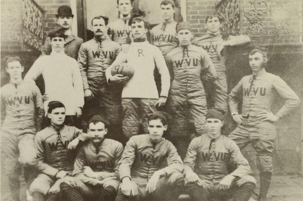 First Ever WVU Football TeamGame Sports