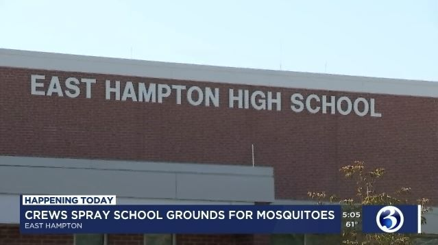 Crews spray school grounds for mosquitoes in East Hampton