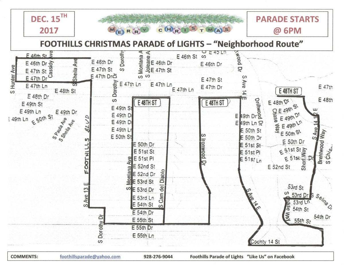 parade route yumasun com