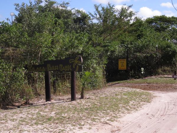 Ilala Palm Park entrance