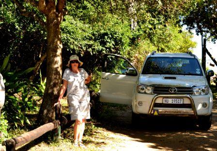 Sally waiting patiently at Mabibi - Jane Morris