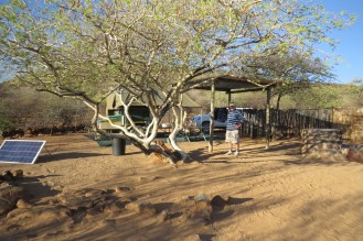 Campsite at Erongo Plateau. A bit exposed.