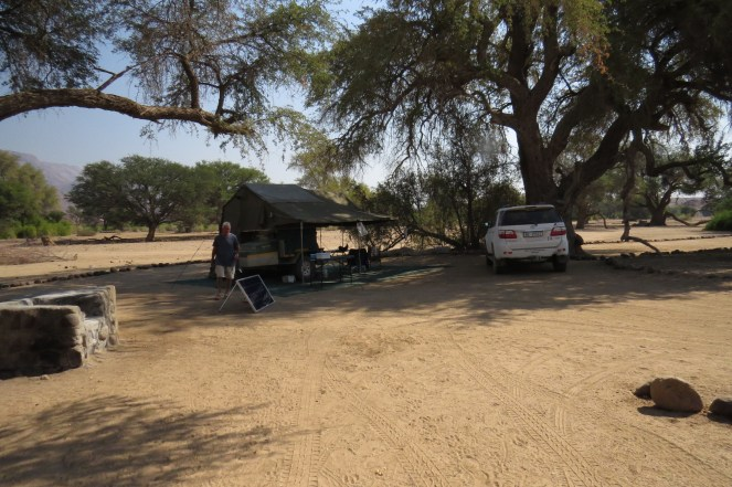 Our campsite at White lady Lodge