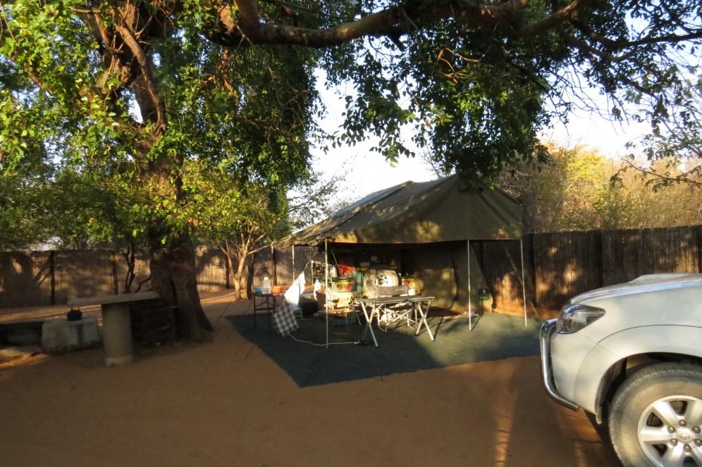 Ushivi Campsite where we set up.