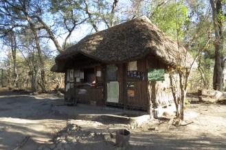 Nambwa Reception at entrance to the Campsite.