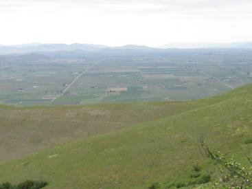 Bison Range view of farmlands to the west
