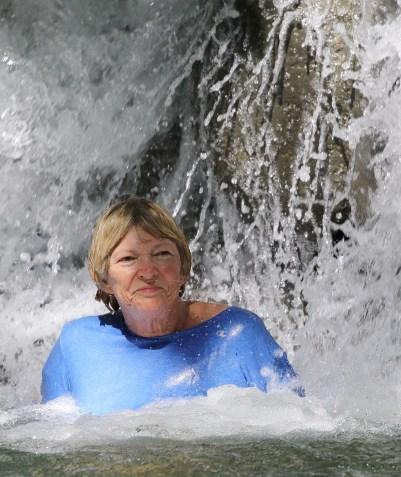 Sally in YS Falls pool