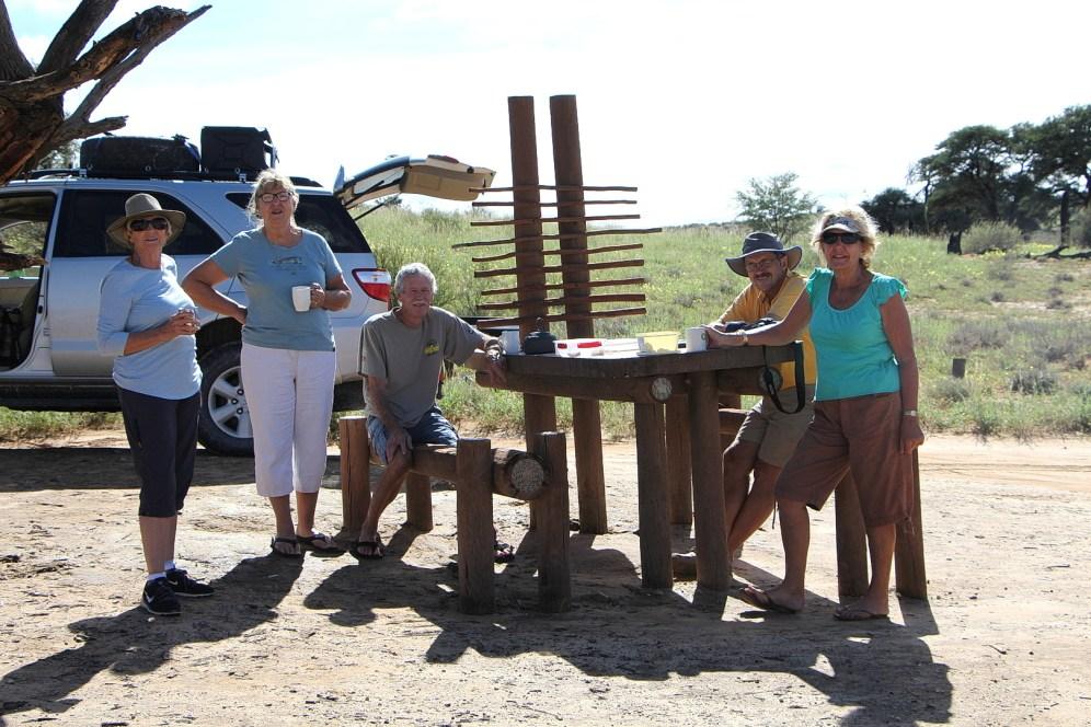 Melkvlei Picnic site with Sally, Rose, Arthur, Bernard and Lynda