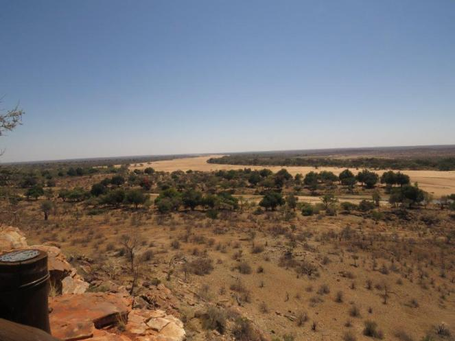 Limpopo and Shashe Rivers. Shashe with the large expanse of sand.