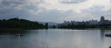 Krasnoyarsk and the Yenisei river.