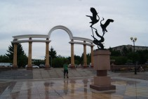 Early afternoon and Birobidzhan was very empty.