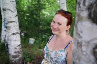 Tatiana and the most Russian of trees, the birch.