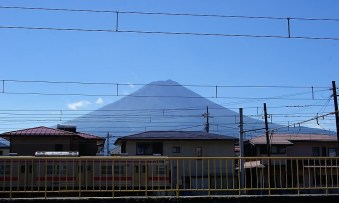 One of our goals while in Japan: The 3776-m volcano Mt Fuji.