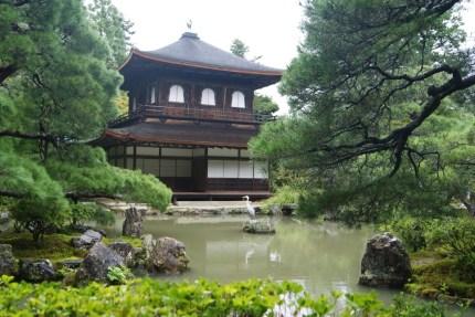 Ginkaku-ji, the silver pavilion, has a great location.