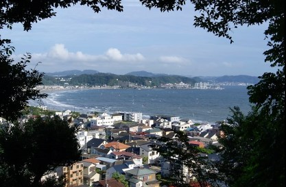 View of Kamakura and an excellent place to surf.
