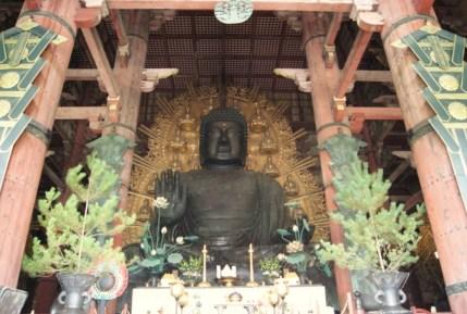 Daibutsu-den in Todai-ji. The giant Buddha everyone comes to see in Nara.