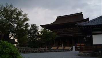 ...ending in Yoshino, where we ran into a group of pilgrims completing thier journey, just before the thunderstorm of the day arrived.
