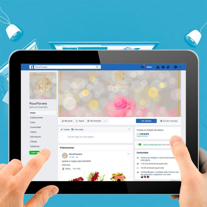 BluCactus Agencias de Redes Sociales México - Roux Flowers
