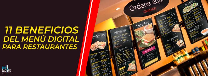 BluCactus - Varios menus digitales en un Restaurante