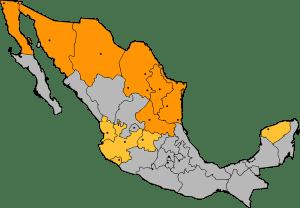 BluCactus Mapa politica de México con cobertura de Panorámicos espectaculares