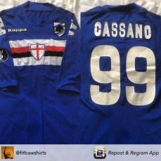 Le magliette di Antonio Cassano tornate in vendita nell'estate del 2015.