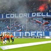 La gradinata Sud nel derby vinto 2-1 contro il Genoa