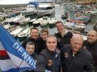 I componenti del Dennis Praet fan club on tour a Genova.