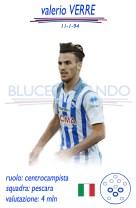 Valerio Verre - Il giovane centrocampista, già richiesto dalla Sampdoria nel mercato estivo, può arrivare in Liguria nell'ambito della trattativa Budimir-Pescara. Potrebbe essere acquistato per una cifra vicina ai 6 mln di euro.