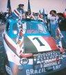 Una macchina blucerchiata per la festa scudetto del 1991