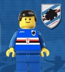 Un omino dei Lego dedicato alla Sampdoria