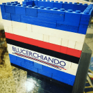 Un porta penne blucerchiato fatto totalmente in Lego e firmato Blucerchiando!