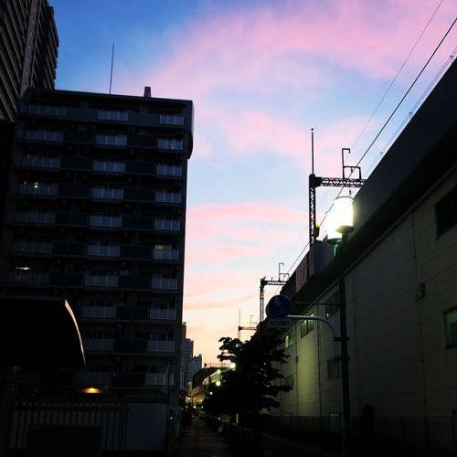 空がいい感じだったんだけど、旨く撮れない(´・ω・`)