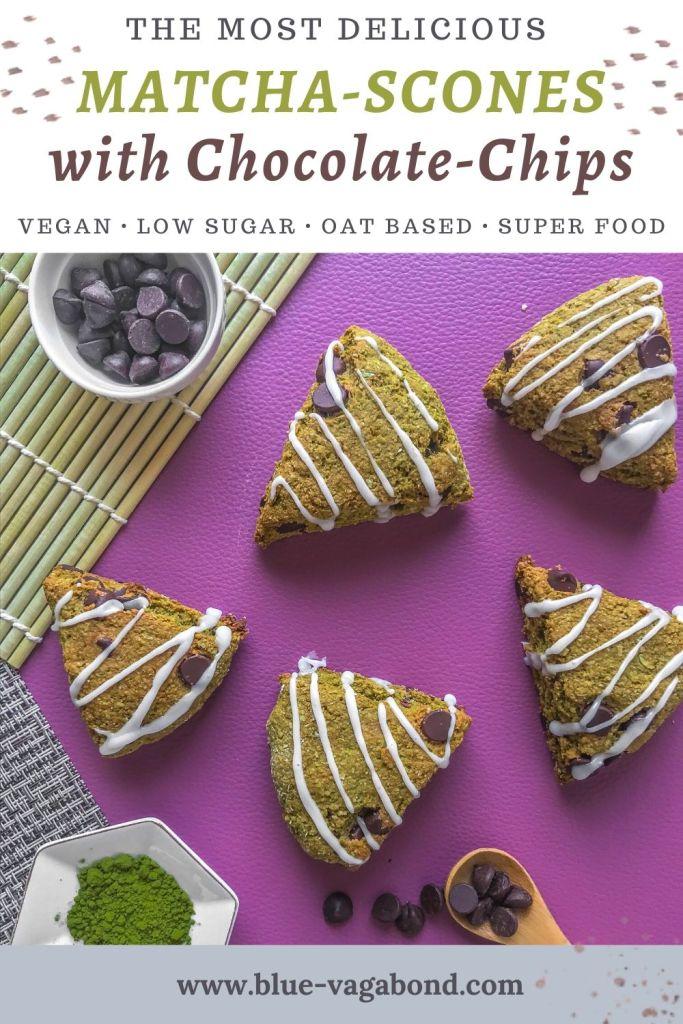 vegan matcha scones pinterest pin