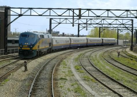 コリドーと呼ばれるVIA鉄道の東部カナダネットワーク (C) VIA Rail Canada