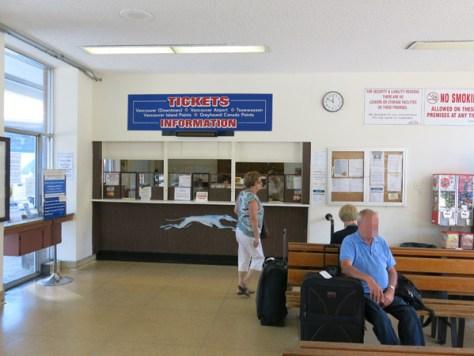 ビクトリア・バスステーションの内部。ものすごく小さい待合室です。