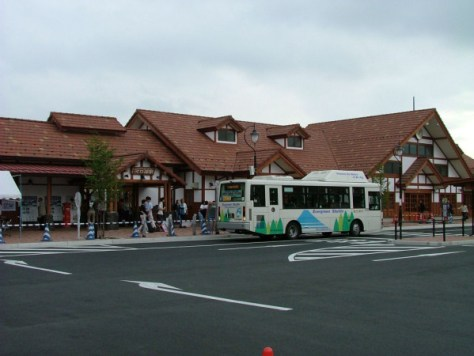 Fuji Kyuko Railway's Kawaguchiko station. All bus services around Mt. Fuji depart / arrive in this station.