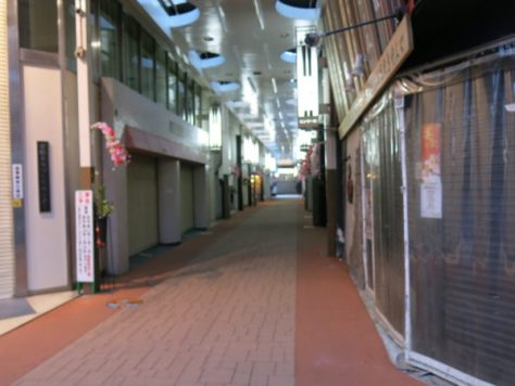 I took the route via shopping arcade.