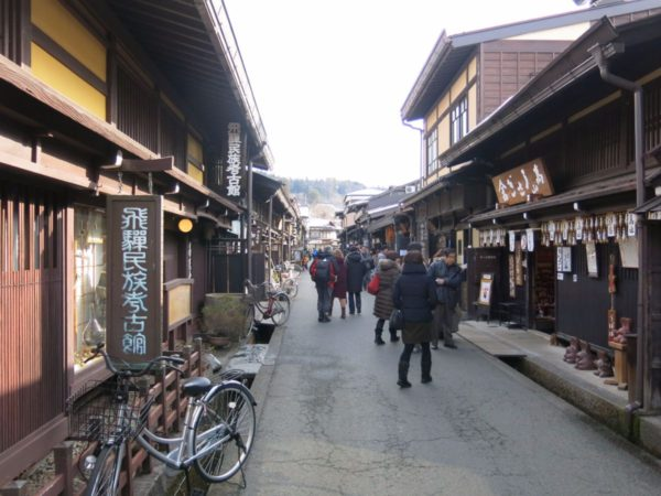 Preserved path in Takayama. It is very popular tourist district in Takayama.