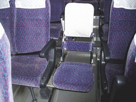 Typical folding jump seat