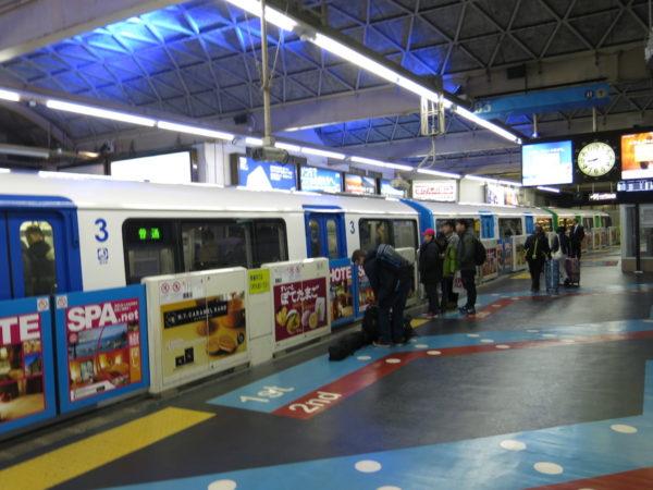 Monorail departure platform