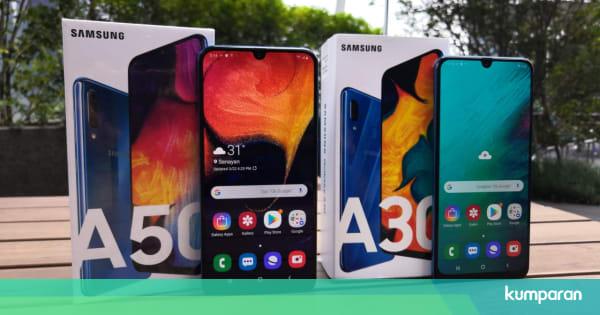Hasil gambar untuk Samsung Galaxy A50 & Galaxy A30 Bakal menguasai Pasar Smartphone