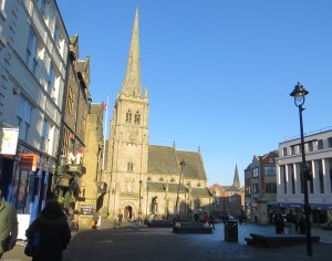 Another view of the Market square in Durham UK