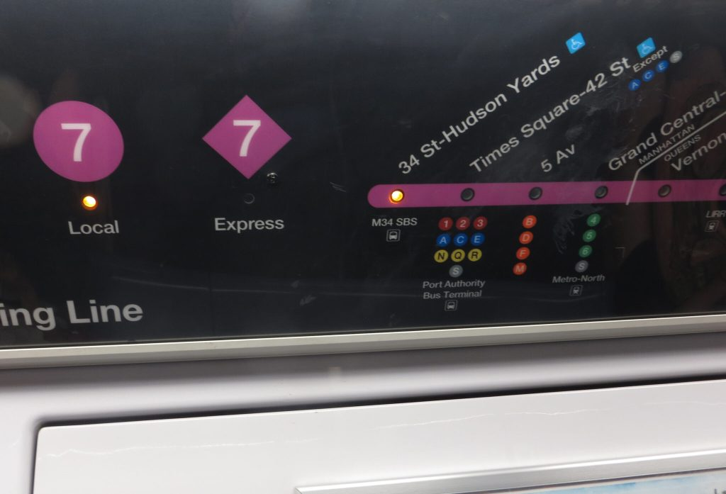 Subway Line 7 has Local and Express