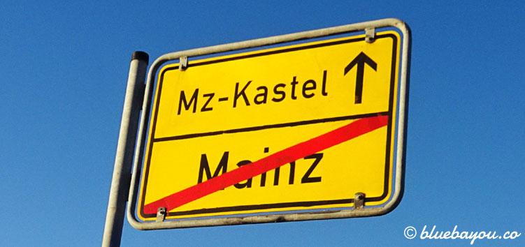 Endlich: Mainz habe ich nach rund 60 km Strecke hinter mir gelassen.
